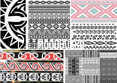 mood board tribal