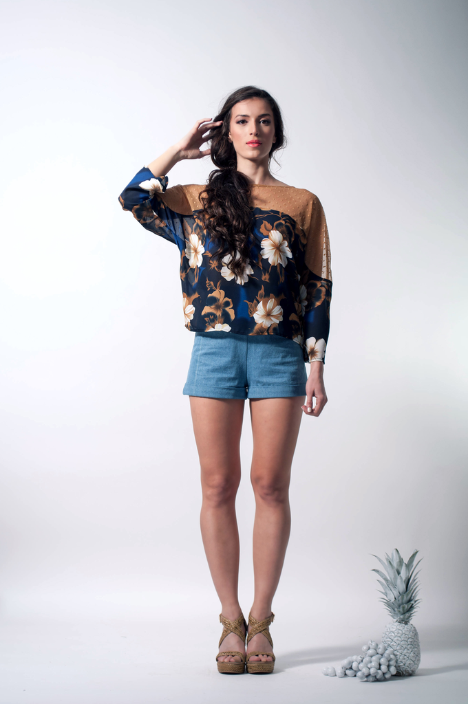 tropical blouse front