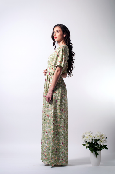 open back maxi floral dress side