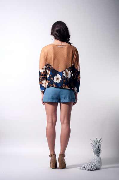 tropical blouse back