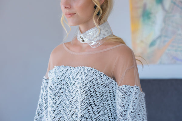 lace removable collar