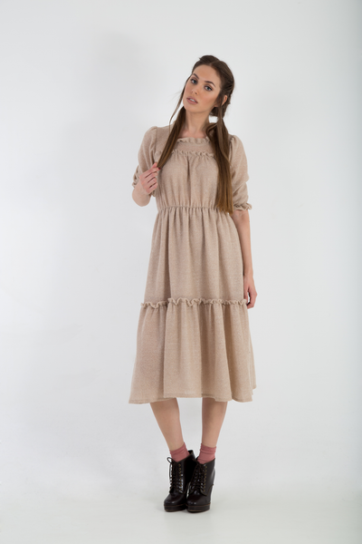Knitted mohair lurex midi dress