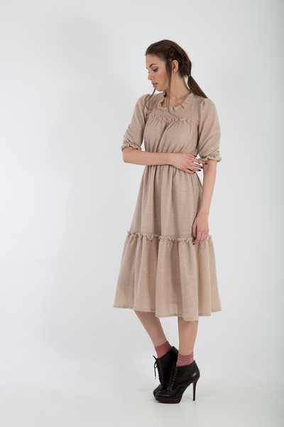 Knitted mohair lurex midi dress side2