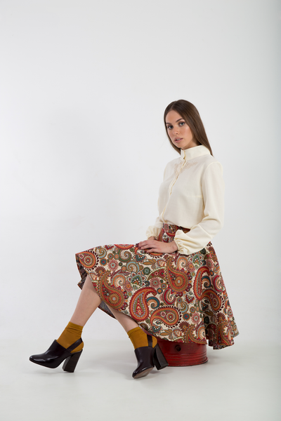 Brocade Full midi skirt sitted