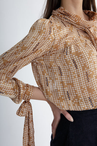 chiffon blouse with ties