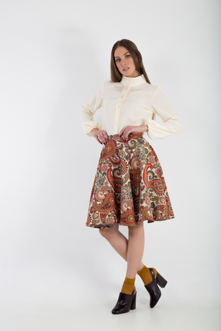 Brocade Full midi skirt side