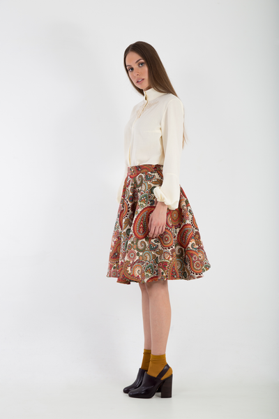 Brocade Full midi skirt