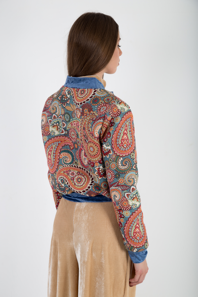 Bomber jacket brocade back