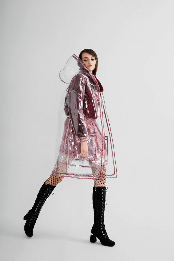 clear pvc raincoat