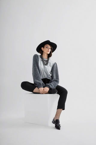 Wool details jumper