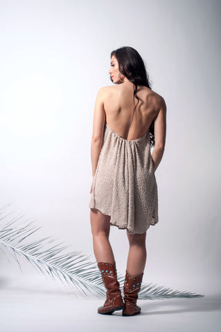 Knitted open back tunic dress  * Limited Edition *