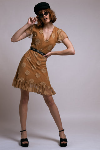 Mini brown dress