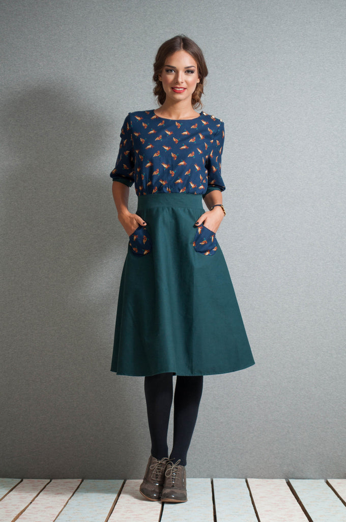 Geese midi dress front