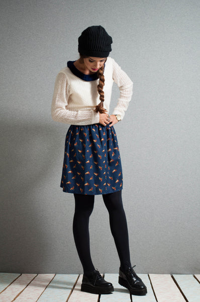 Mini geese skirt front