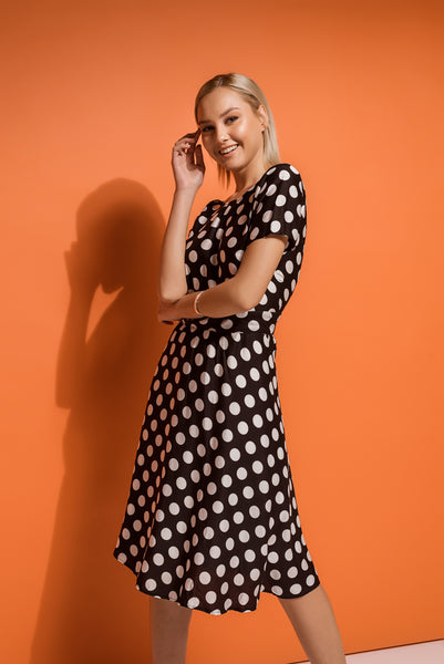 retro inspired polka dot dress