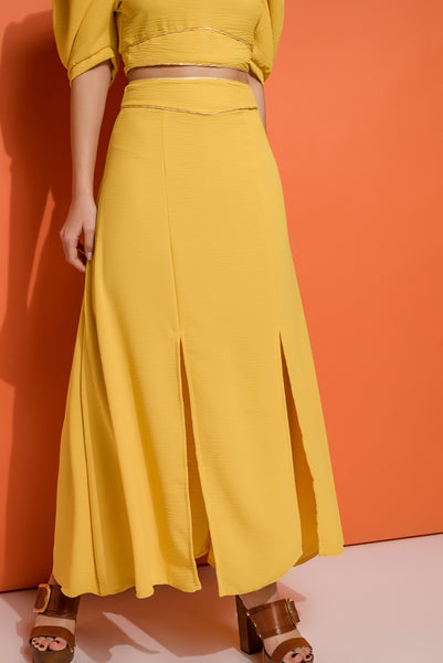 ankle length skirt with slits