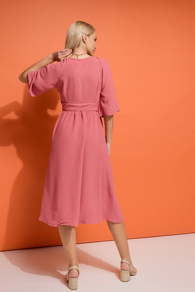 Midi Shirt Dress with wide sleeves