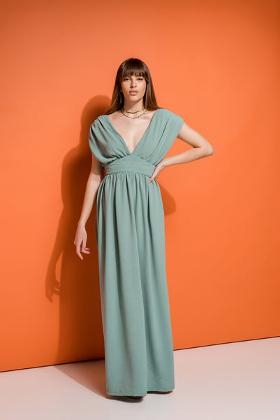 maxi summer dress in mint