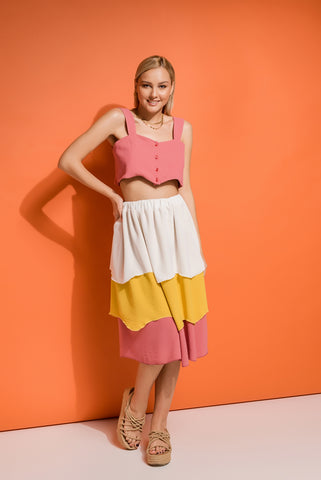 layered summer skirt