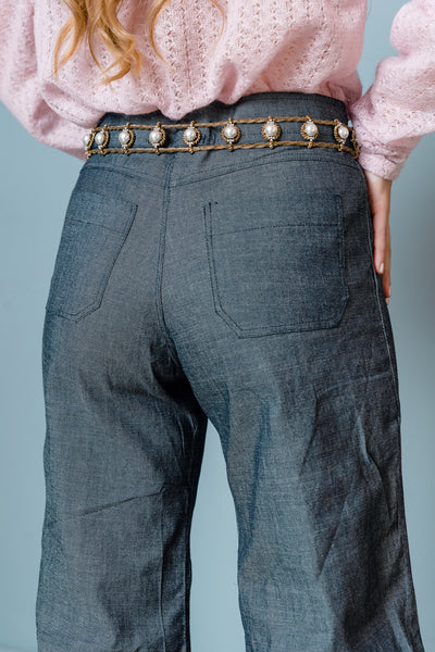 denim flared pants