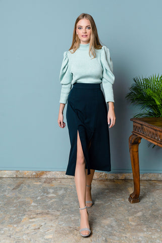 High Waist Skirt With Slits