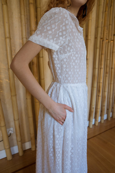 White Button Down Maxi Dress