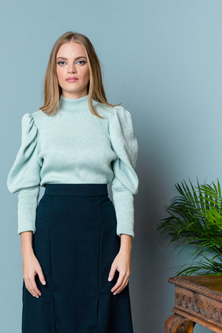 lurex turtleneck jumper