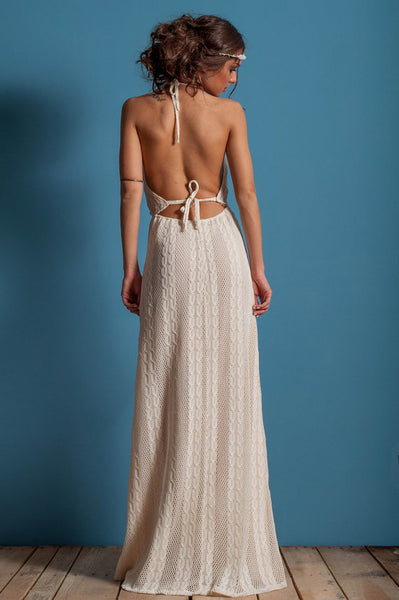 Bohemian open back dress