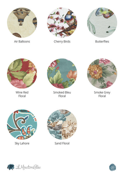 Crosover floral dress color chart