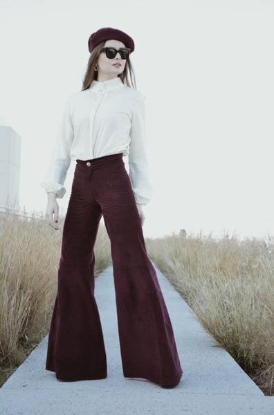 corduroy bell bottoms berry