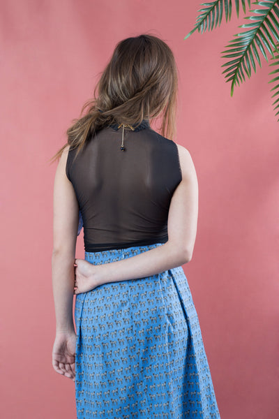 sheer back top