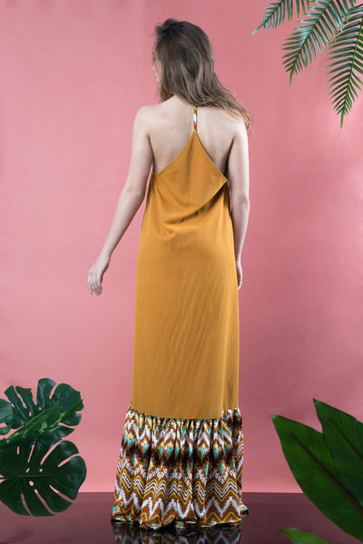 open back boho dress