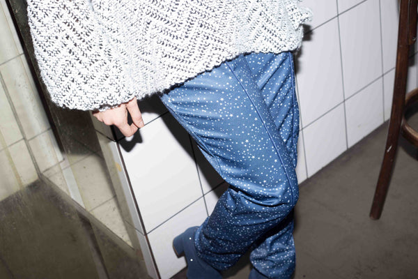 High waist starry pants