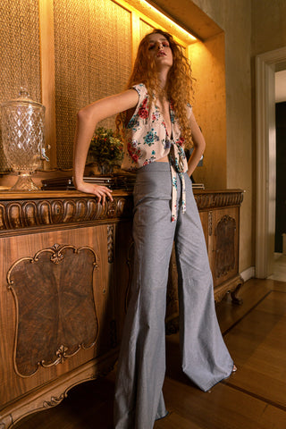 denim bell bottoms