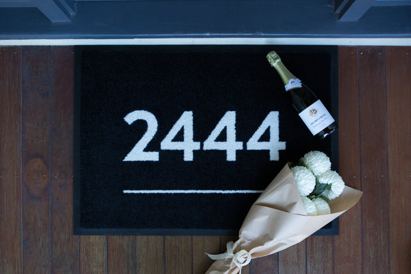 Postcode Doormats - Underlined