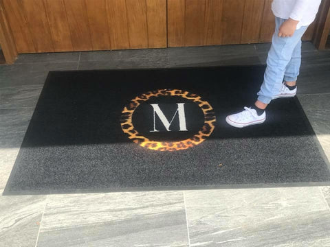 Personalised Doormat - Monogram Animal Print Doormat