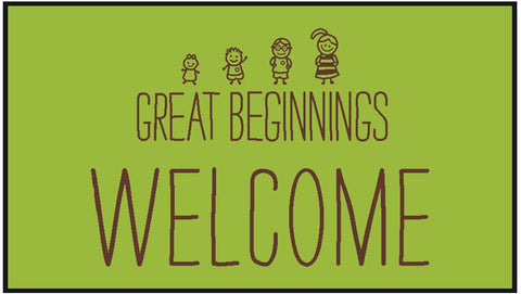 Great Beginnings Large Welcome Mat 85x150cm