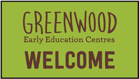 Greenwood Early Education Centres - Large Welcome Logo 85x150cm