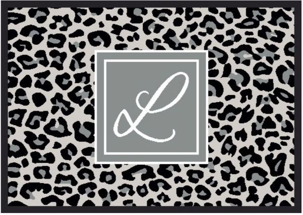 Personalised Doormat - Leopard Print Template