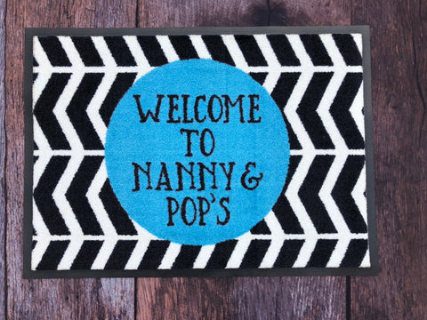 Personalised Doormat - 'Hello Mat' Design