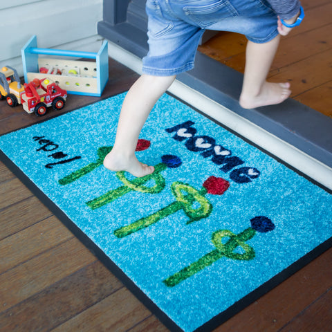 Kid's Art Converted to a Doormat