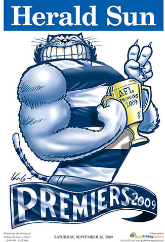 Mark Knight Premiership Poster - Geelong 2009