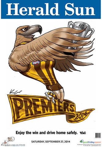 Mark Knight Premiership Poster - Hawthorn 2014