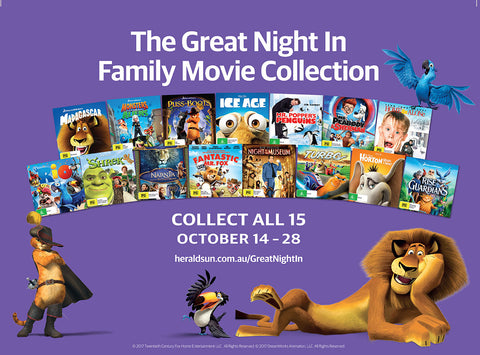 The Great Night In Movie Collection - Subscriber Offer.