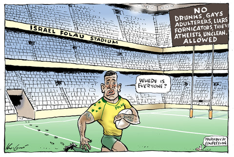 Mark Knight Cartoon - Israel Folau