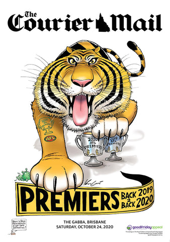 2020 Mark Knight Premiership Poster - COURIER MAIL EDITION PAPER POSTERS