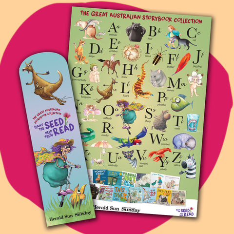 Limited edition glossy alphabet chart and bookmark