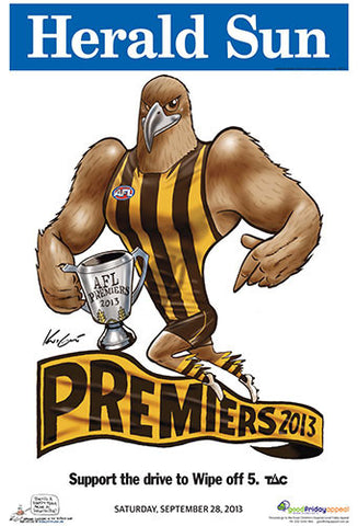 Mark Knight Premiership Poster - Hawthorn 2013
