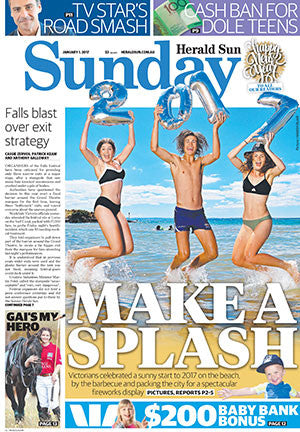Backdated Herald Sun Newspapers: January to March 2017