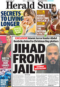 Backdated Herald Sun Newspapers: April to June 2017